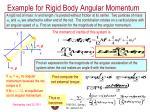 example for rigid body angular momentum