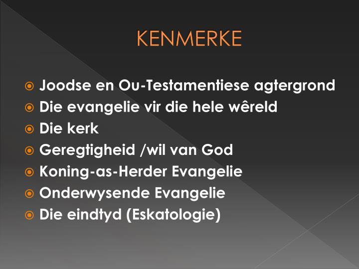 KENMERKE