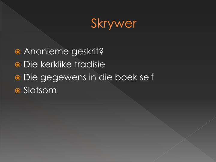 Skrywer