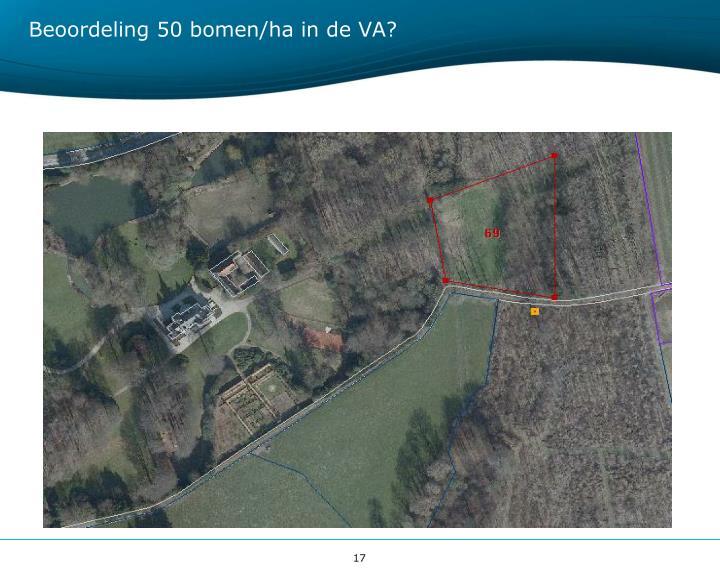 Beoordeling 50 bomen/ha in de VA?