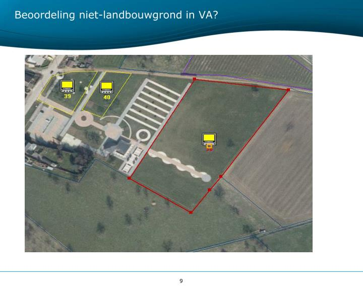 Beoordeling niet-landbouwgrond in VA?