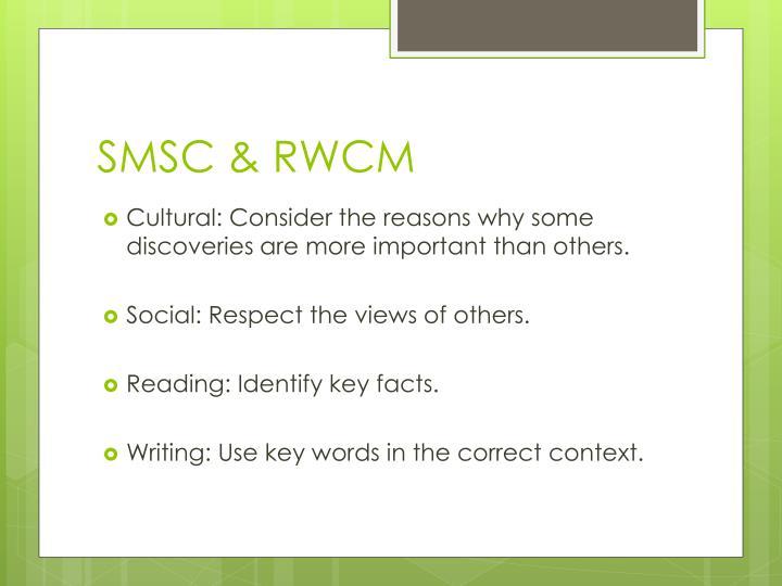 SMSC & RWCM