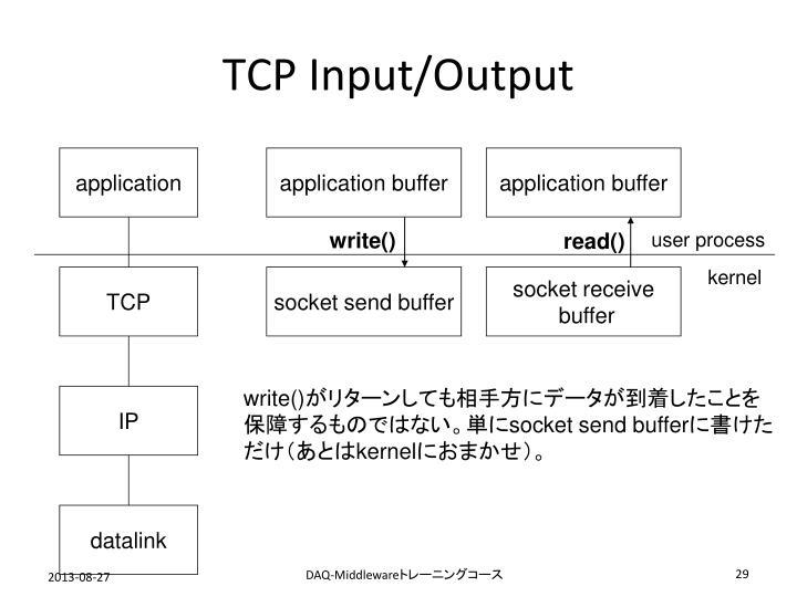 TCP Input/Output