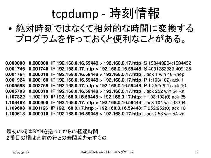 tcpdump -