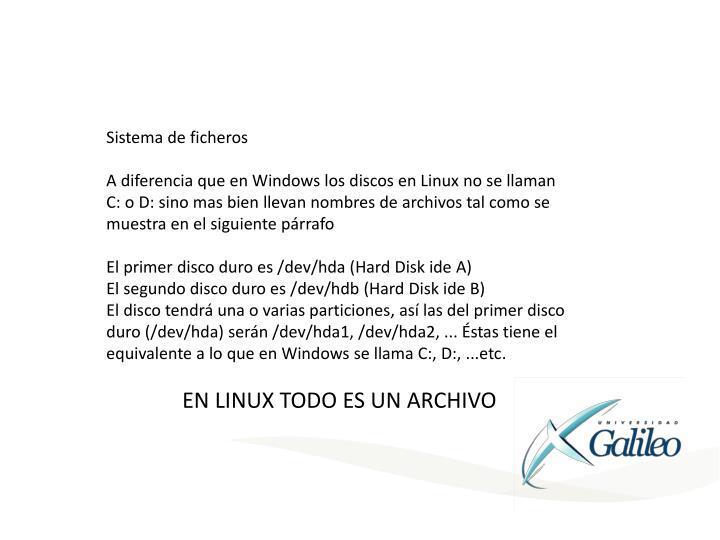 Sistema de ficheros