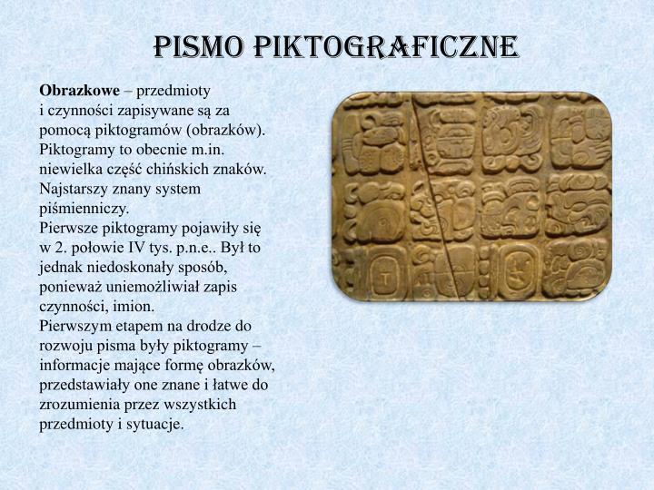 Pismo piktograficzne