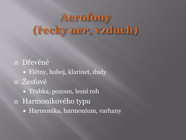 Aerofony