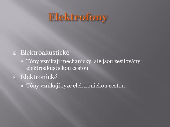 Elektrofony