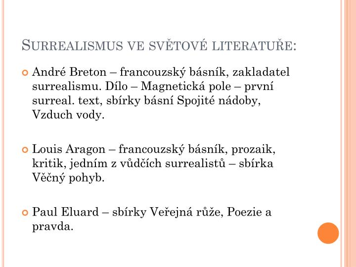 Surrealismus ve světové literatuře: