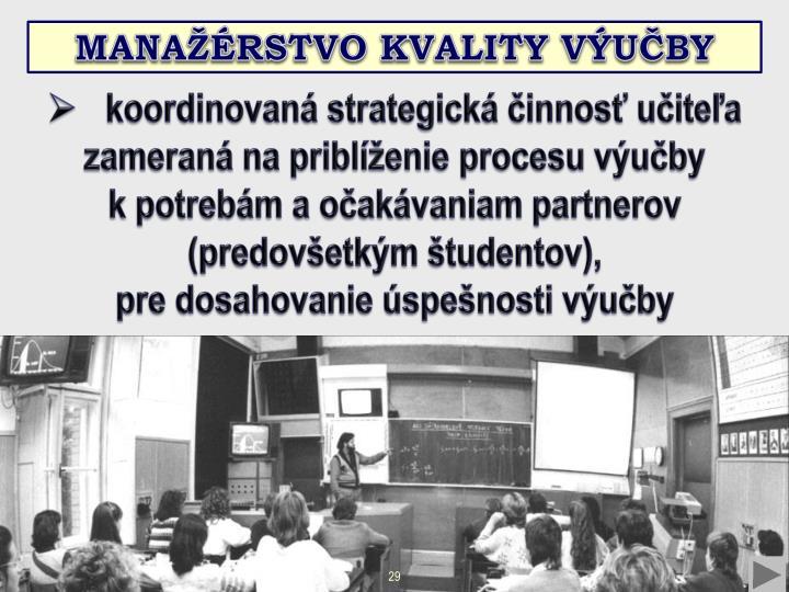 Manažérstvo kvality výučby