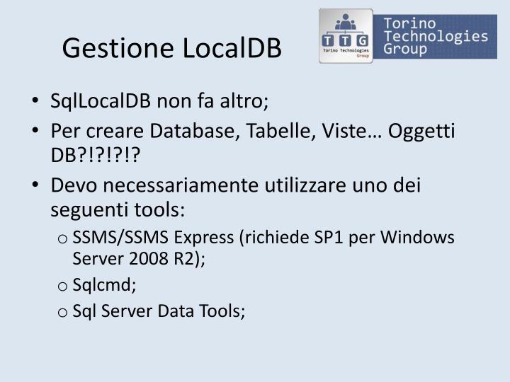Gestione LocalDB