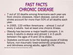 fast facts chronic disease