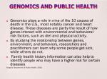 genomics and public health