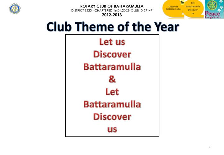 Club Theme of the Year