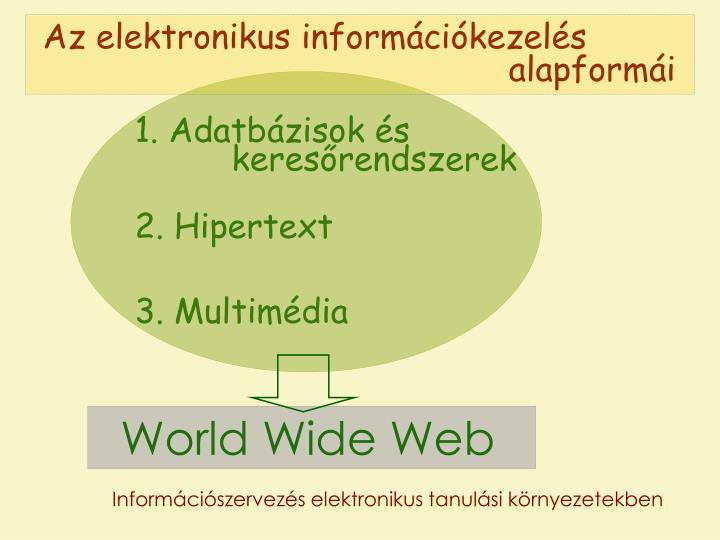 Az elektronikus információkezelés