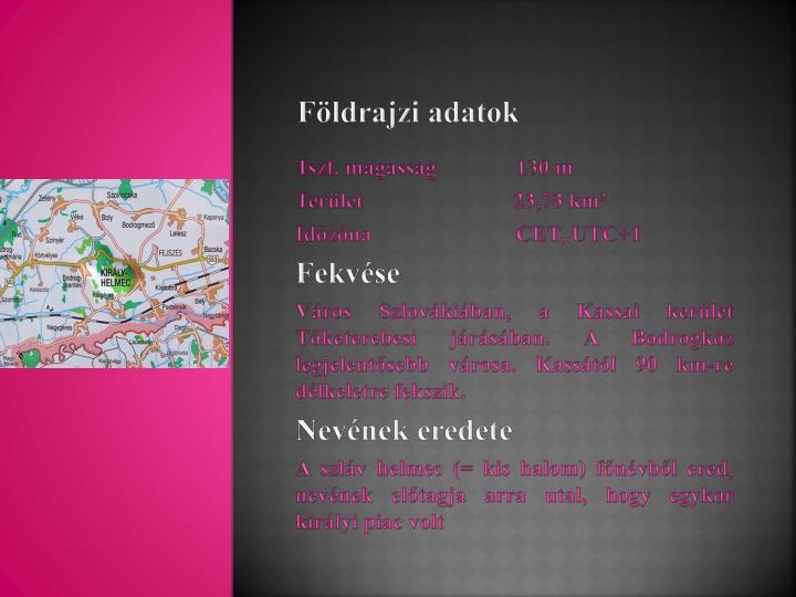 Földrajzi adatok