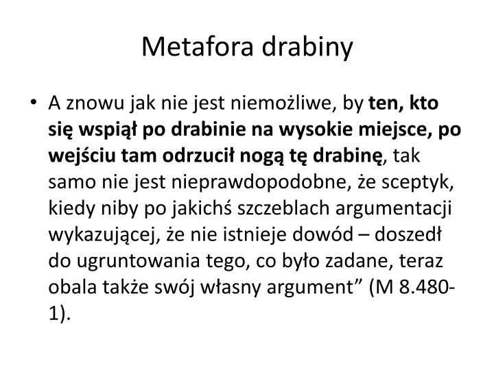 Metafora drabiny