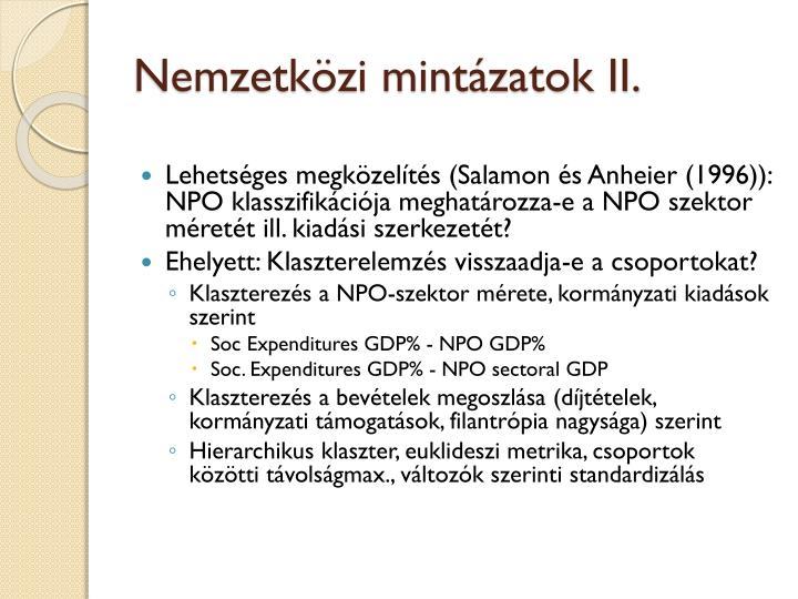 Nemzetközi mintázatok II.
