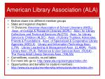 american library association ala