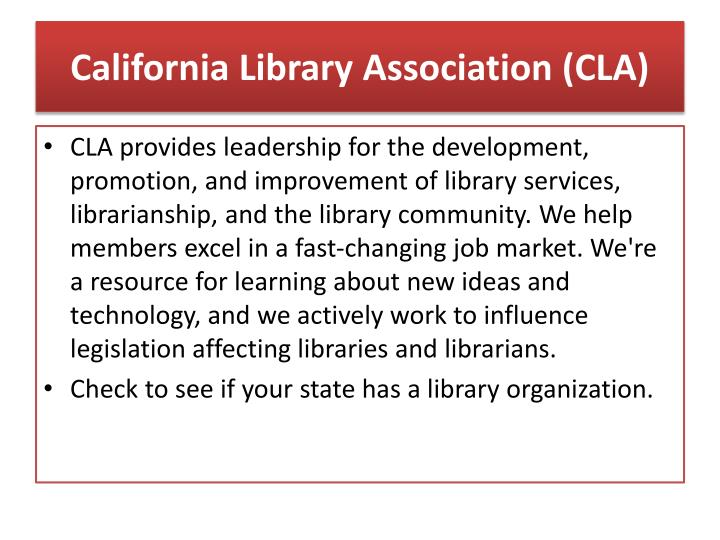 California Library Association (CLA)