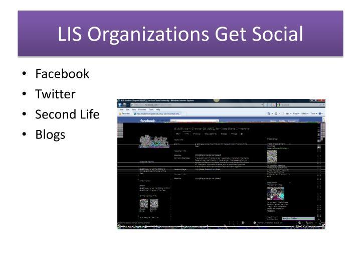 LIS Organizations Get Social