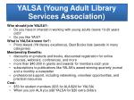 yalsa young adult library services association