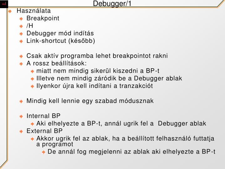 Debugger/1