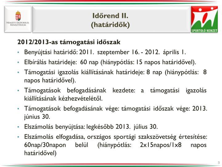 Időrend II.