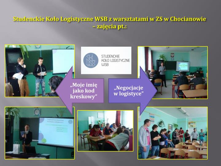 Studenckie Koło Logistyczne WSB z warsztatami w ZS w Chocianowie – zajęcia pt.: