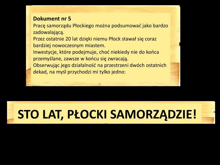 Dokument nr 5