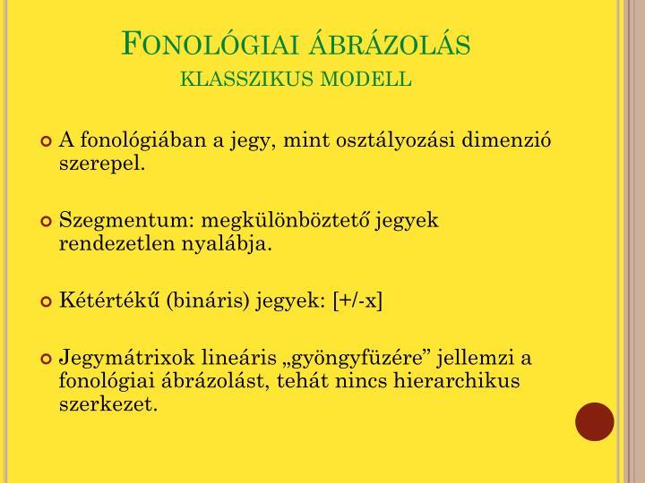Fonológiai ábrázolás