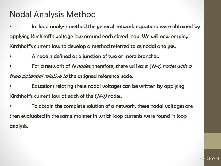 Nodal Analysis Method