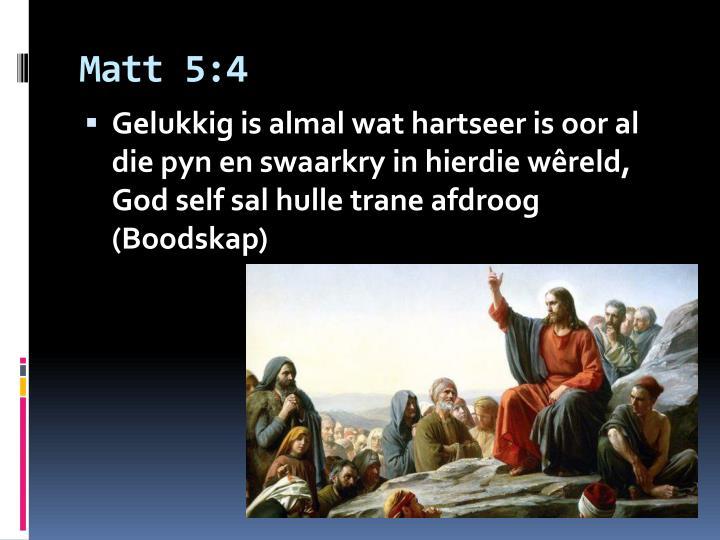 Matt 5:4