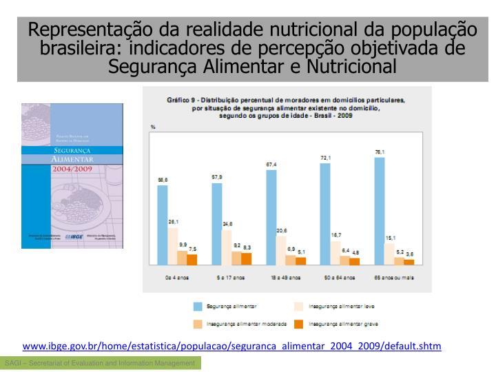 Representação da realidade nutricional da população brasileira: indicadores de percepção objetivada de Segurança Alimentar e Nutricional