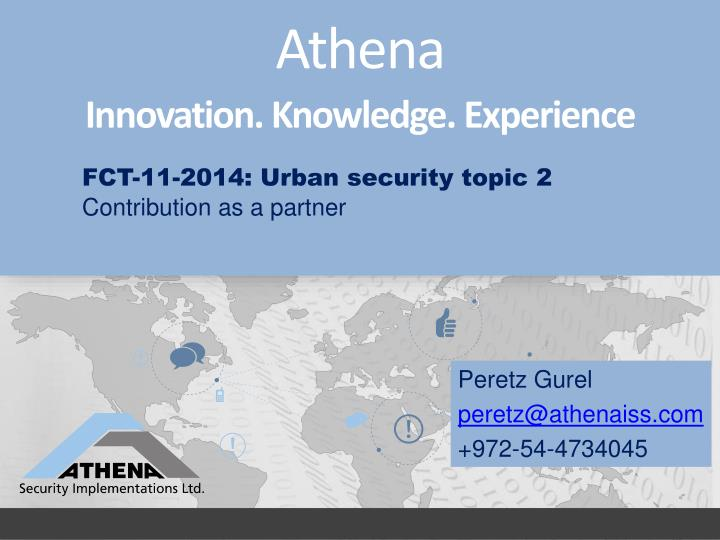 FCT-11-2014: Urban security topic