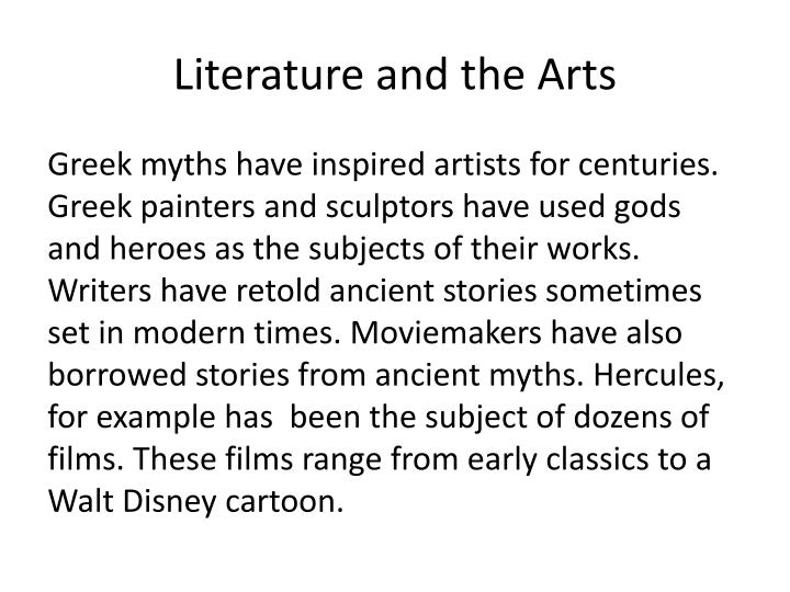 Literature and the Arts