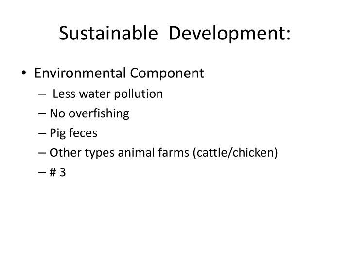 Sustainable  Development: