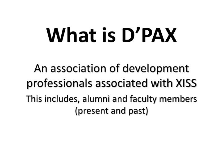What is d pax