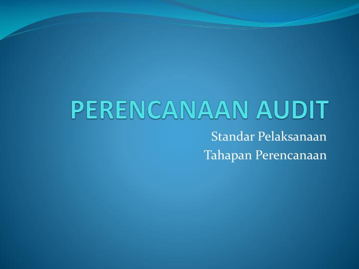 Perencanaan audit