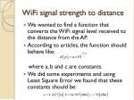 wifi signal strength to distance