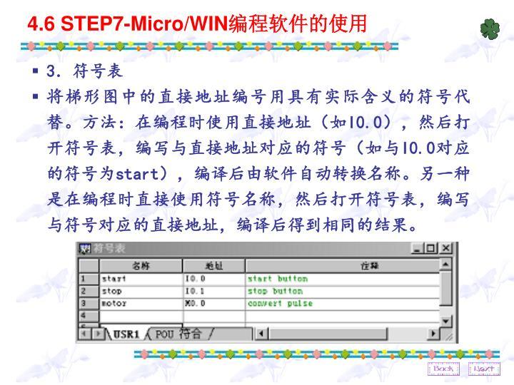 4.6 STEP7-Micro/WIN