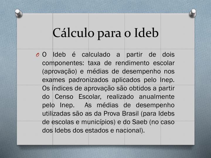 Cálculo para o Ideb