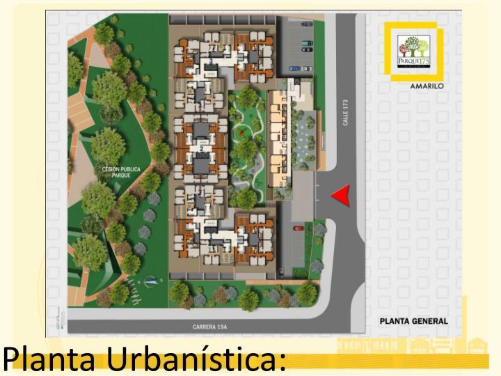Planta Urbanística: