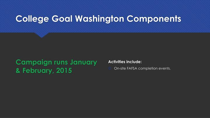 College Goal Washington Components