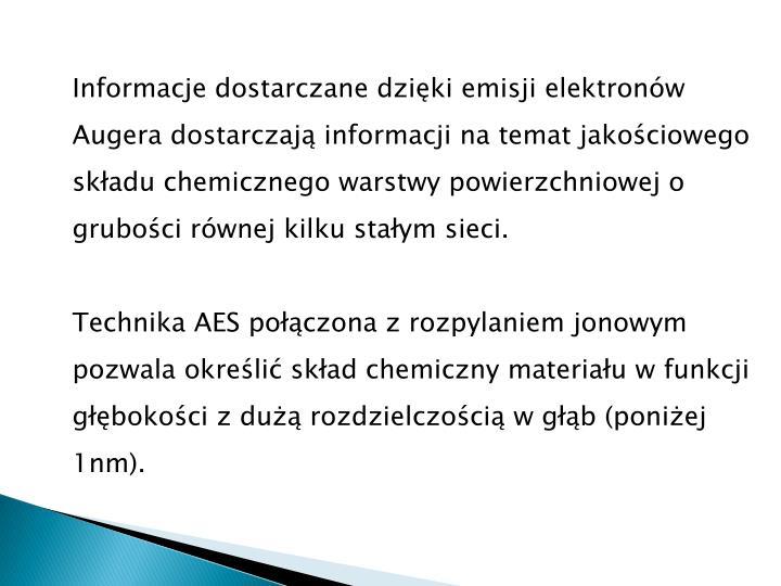 Informacje dostarczane dzięki emisji elektronów
