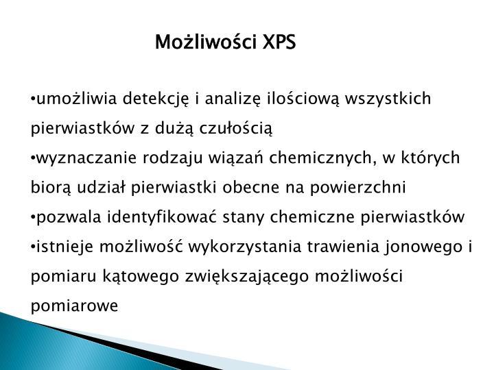 Możliwości XPS