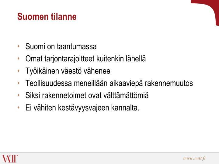Suomen tilanne