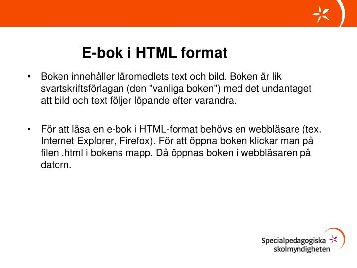 E-bok i HTML format