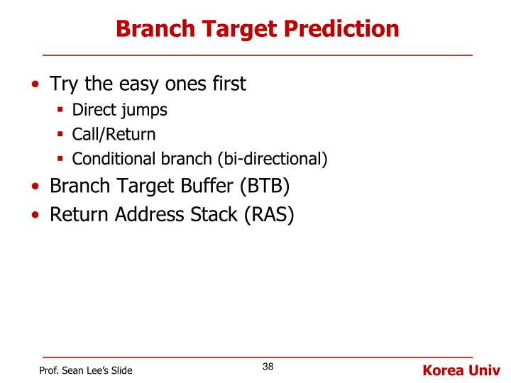 Branch Target Prediction