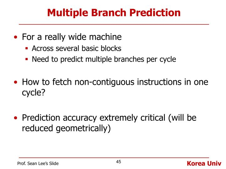 Multiple Branch Prediction